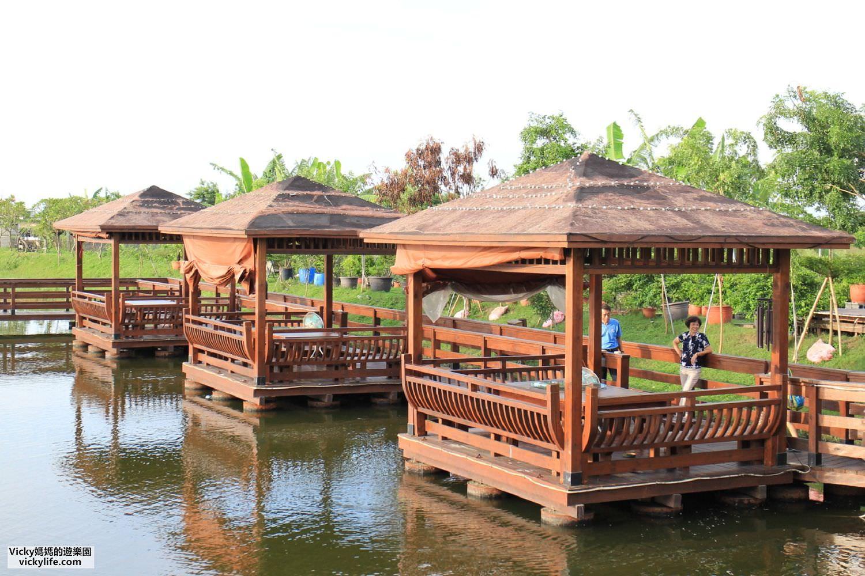 台南景觀餐廳︱水瀨閣水上木屋景觀海鮮餐廳:就是可以玩沙和免費釣魚那間啦