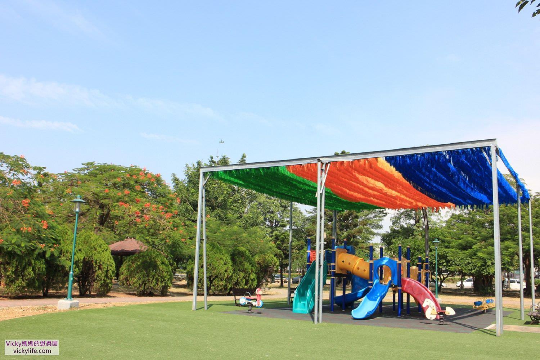 台南特色公園︱明和公園:第一座地景式特色遊戲場,勇敢挑戰單人滑索,斜坡式水管溜滑梯