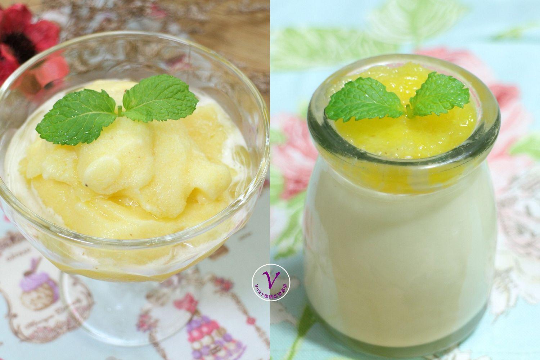 鳳梨簡易甜點︱鳳梨綿綿冰、鳳梨鮮奶酪,超簡單作法,媽媽輕鬆做;孩子開心吃