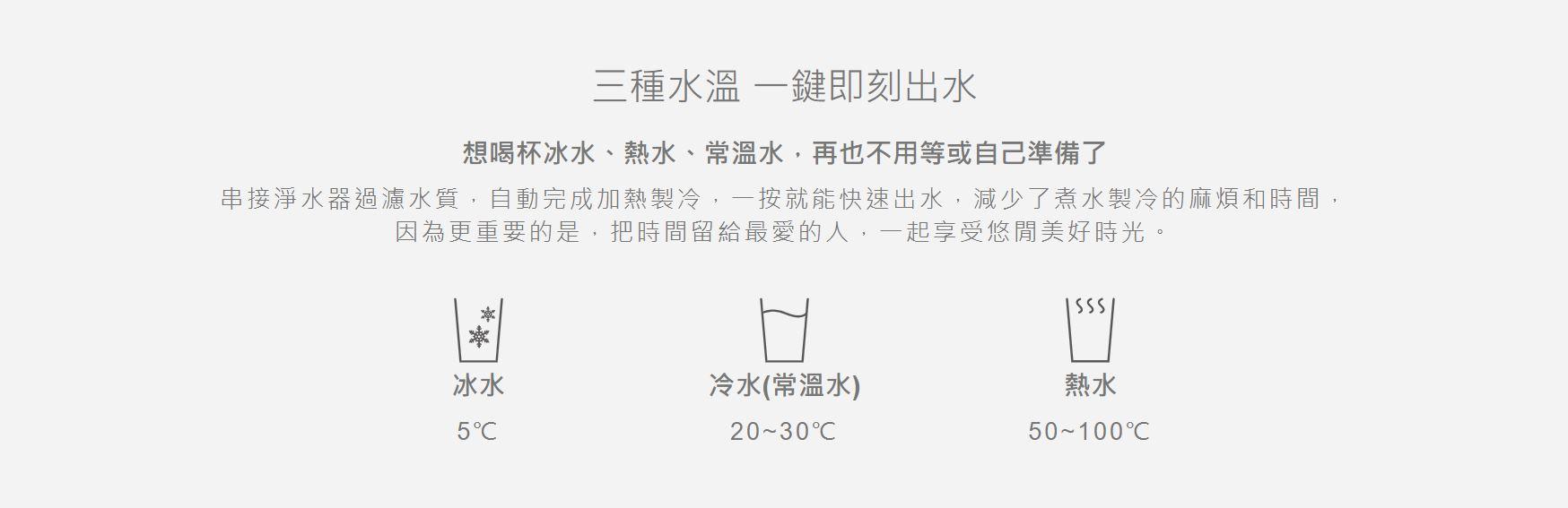 飲水機推薦-TK6000廚下型冰溫熱觸控飲水機提供3種溫度