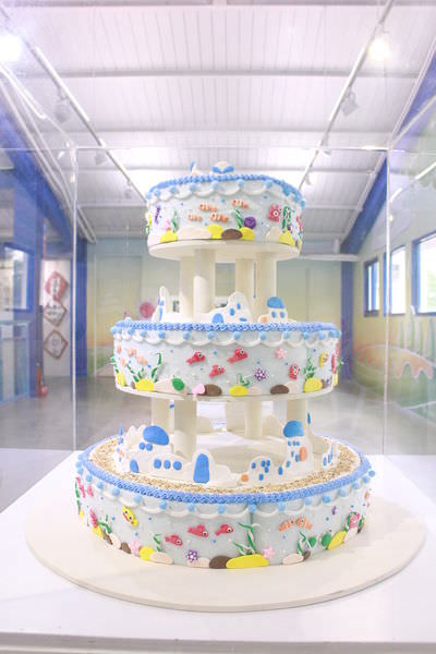 雲林觀光工廠︱蛋糕毛巾咖啡館iicake:這真的都是紡織品啦