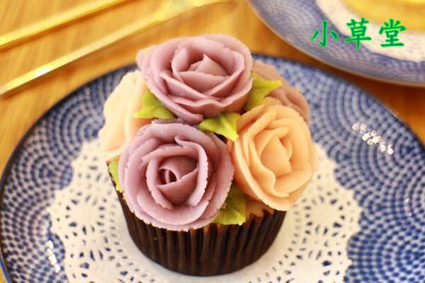 【食記】台南中西~小草堂‧little cottage‧美得像藝術品般的玫瑰豆乳霜杯子蛋糕‧美得令人屏息阿